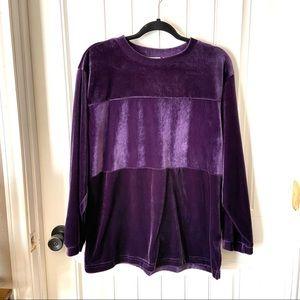 Russ Vintage Purple Stripe Velour Sweatshirt